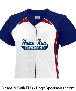 Womens Pulse Short Sleeve Faux Full Button Down Softball Jersey Design Zoom