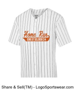 Adult Pinstripe Full Button Baseball Jersey Design Zoom