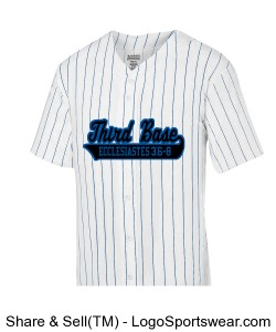 Youth Pinstripe Full Button Baseball Jersey Design Zoom