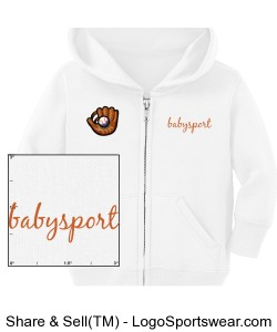 Infant Full Zip Hooded Sweatshirt Design Zoom